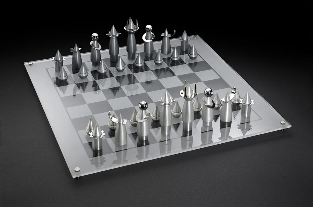 Steel Chess Set rocket chess set | chess game designedlaura cowan