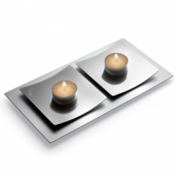 Candlesticks and candle holders for Shabbat designed by Laura Cowan Judaica