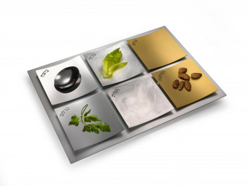 Dune Seder Plate in Mixed Metals by Laura Cowan
