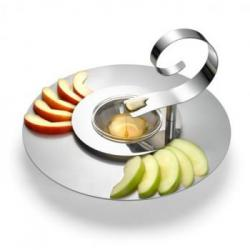 Rosh Hashanah gifts: Apple and Honey plates and Honey Dipper designed by Laura Cowan